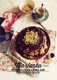 Czech Marlenka Cake with Dulce de Leche. Recipe on www.whatlibertyate.com
