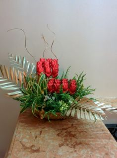 Red tulips nd more to come.. Chocolate bouquets
