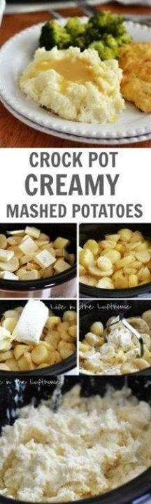 The easiest and most The easiest and most delish mashed... The easiest and most The easiest and most delish mashed The easiest and most The easiest and most delish mashed potatoes cooked in the crock pot! Putting these on my Thanksgiving list.