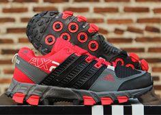 Detail Sepatu Running: Merek : Adidash Color:   Abu Merah Code : Adidas AX2 Abu Merah  More info pin 5CCD15A9