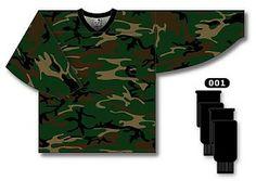 Camouflage Blank Hockey Jersey