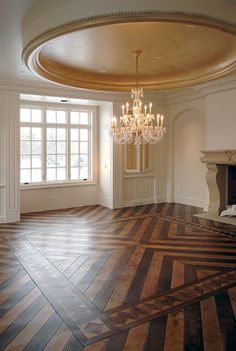 OMG - talk about the perfect room - the flooring and ceiling are awesome!