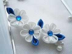 Handmade Kanzashi ladies women large hair clip -buy in UK,shipping worldwide Ribbon Art, Diy Ribbon, Ribbon Crafts, Flower Crafts, Ribbon Bows, Ribbons, Cloth Flowers, Fabric Flowers, Flower Hair Clips
