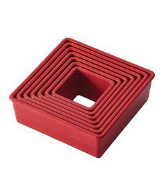 Look what I found on #zulily! Red Square Nine-Piece Fondant/Cookie Cutter Set by Cake Boss #zulilyfinds