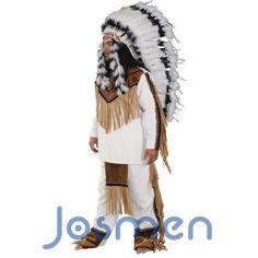 Disfraz de Toro Sentado: Sitting Bull (Toro Sentado) era respetado en todas las tribus indígenas por su coraje y sabiduría. Con 25 años se convirtió en jefe de los sioux y los lideró en su resistencia a los intentos del gobierno de Estados Unidos de anexionar sus tierras. http://www.disfracesjosmen.es/228-disfraz-toro-sentado.html