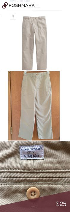 Vineyard Vines Boys Club Khakis Never worn, brand new. Size 8. No flaws. Smoke free home. Could be either boys or girls. Open to offers. Vineyard Vines Bottoms Formal