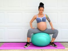 Hip rolls exercise during pregnancy helps baby drop down into labor position.