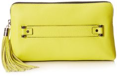 MILLY Astor Clutch,Limeade,One Size.