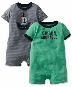 Carter S Baby Boys 2 Pack Rompers Kids Baby Boy 0 24