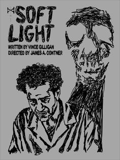 Soft Light - Episode 47. This was Vince Gilligan's first episode of the series. It also featured a memorable appearance by Tony Shalhoub as a man with a killer shadow. The palette of the episode is pretty dark so I wanted the poster to reflect that. I also wanted to portray how Shalhoub's character becomes unhinged throughout the episode with my use of erratic lines.