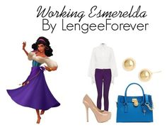 """Working Esmerlda"" by niley12345 ❤ liked on Polyvore featuring Alexander McQueen, Monkee Genes, Chinese Laundry, Michael Kors, Roberto Coin, heels, cicis, hoops, married and rihanna"