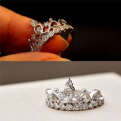 Graceful Crown Style 925 Silver Promise Ring for Her [100154] - $39.99 : jewelsin.com