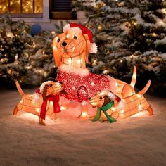 Christmas Lighted Dachshund Wiener Dog Sculpture Light Up outdoor indoor - Yahoo Image Search Results Cat Christmas Ornaments, Christmas Items, Christmas Cats, Christmas Lights, Dachshund Gifts, Dachshund Love, Funny Dachshund, Roman Candle, Dyi Crafts