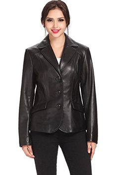 "BGSD Women's ""Tammy"" Three-Button Lambskin Leather Blazer - Black L BGSD http://www.amazon.com/dp/B00ED9FQBW/ref=cm_sw_r_pi_dp_6nWFwb0V4XGH0"