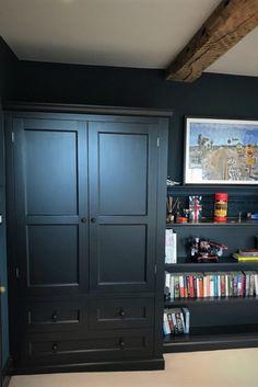 bespoke kitchens handmade in Shere Guildford Surrey Drawer Shelves, Tall Cabinet Storage, Dark Interiors, Bespoke Kitchens, Bespoke Design, Classic Furniture, Cupboards, Custom Made, Floors