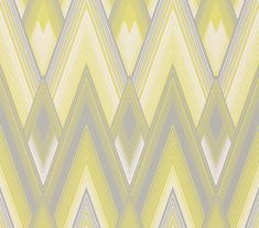 Astoria Silver & Yellow wallpaper by Osborne & Little