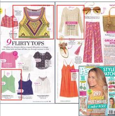Super cute summer apparel by Foreign Exchange in the June 2013 issue of People Stylewatch Magazine!