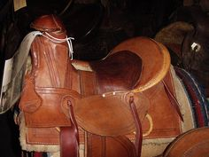 This is an APPLE HORN Saddle that was rebuilt by the late US Marshal Ralph Hooker that did it about 30 years ago.  This style of saddle is very old and dates back to a time between the Mexican style saddle and the early plains saddle.