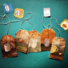 Good Thursday morning! #recycledart #teabag #52weeksoftea