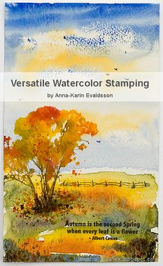 Layers of ink - Versatile Watercolor Stamping Class by Anna-Karin Evaldsson. I am happy to teach a fun online class at Skillshare, with lots of techniques, both stamping and watercolor. Stamps by Darkroom Door, Tim Holtz Stamper's Anonymous and Stampscapes. Ranger inks and watercolor paint from Daler & Rowney. There are a bunch of other examples in the class too.