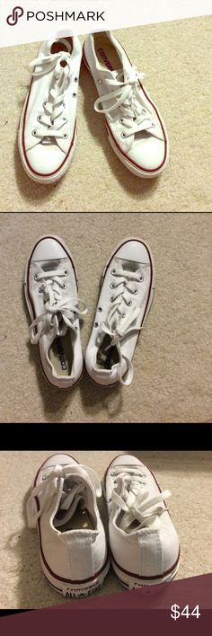 Converse white low tops - Many sizes Cheaper on merc. College students? You are elegible for free shipping. Leave a comment :) Converse Shoes Sneakers