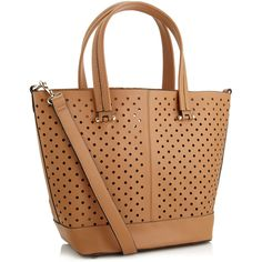 Accessorize Punched Hole Tote ($76) ❤ liked on Polyvore