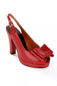 c55e3839e Rita Slingback Leather Heel in Red Vintage Inspired Shoes, Vintage Style  Shoes, Retro Heels