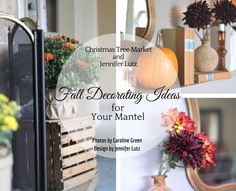 Discover simple & beautiful ways to enhance your mantel for fall. From Jennifer Lutz on the Christmas Tree Market blog.