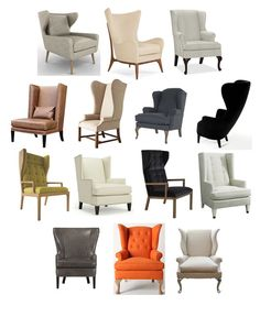 Worth Another Look: Wing Back Chairs with Modern Design Tweaks There's something majestic and throne-like about a wing back chair Living Room Designs, Living Room Decor, Home Furniture, Furniture Design, Upholstered Chairs, Wingback Chairs, Wing Chairs, Swivel Chair, Armchair