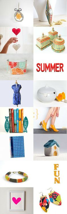 SUMMER FUN by Georgia on Etsy--Pinned with TreasuryPin.com