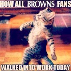 Monday after a spectacular Browns win #browns #comeback