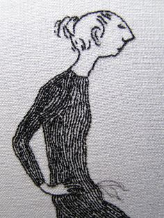 Edward Gorey embroidery detail Judy Plum
