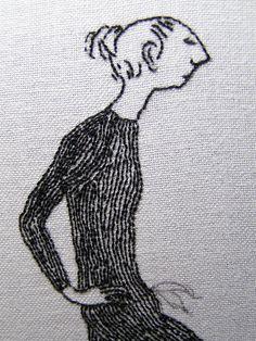 Edward Gorey embroidery detail Judy Plum