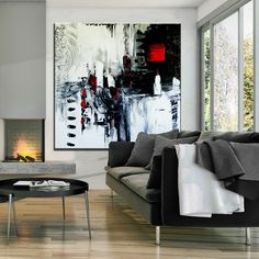 modern art home decor - Modern Abstract Paintings, Minimalist Art and Large Contemporary Modern Art White Canvas Art, White Art, Canvas Wall Art, Modern Decor, Modern Art, Hand Painting Art, Abstract Paintings, Indian Paintings, Abstract Oil