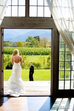 This Virginia vineyard is the perfect backdrop for a beautiful and scenic wedding! {Veritas Winery}
