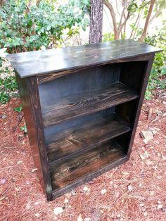 Bookcase Rustic Farmhouse Wood Bookcase made by CoastalOakDesigns