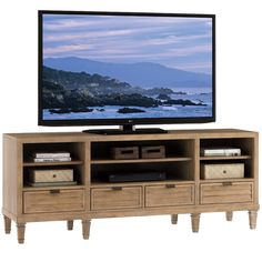"""Spanish Bay 72"""" TV Stand Entertainment Console in Cambria #dynamichome #tvstand #media #mediaunit #console #storage #natural #wood #nuetral #entertainment #stand #display #livingroom #den #bedroom #mediaroom #monterey"""