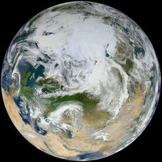 New high-resolution blue marble image of the Arctic