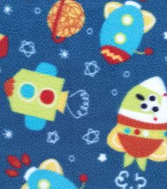 1000 images about fleece prints for the bunnies at for Space fleece fabric
