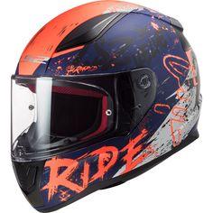 Κράνος #LS2 FF353 Rapid Naughty Matt Blue-Fluo Orange Ls2 Helmets, Matt And Blue, Helmet Design, Orange, Products, Men's Apparel, Laser Cutting, Gadget