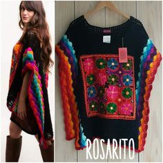 Crochet Blouse, Knit Dress, Knit Crochet, Crochet Baby Boots, Crochet Clothes, Freeform Crochet, Crochet Shawl, Poncho Shawl, Beautiful Crochet