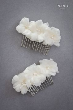 b42bb0dd4d981c Flower hair accessories for Emilie s bridesmaids by Percy Handmade. Hair  Accessories For Girls, Handmade