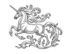 Unicorn Painting, Unicorn Drawing, Unicorn Art, Black And White Drawing, Black And White Illustration, Black White, Free Vector Graphics, Free Vector Art, Left Arm Tattoos