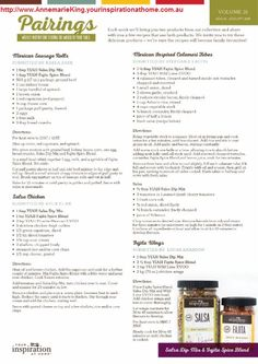 Salsa Chicken, Mexican Chicken, Mexican Sausage, Internet Marketing Consultant, Fajita Spices, Recipe Sheets, Sausage Rolls, Calamari, Spice Blends