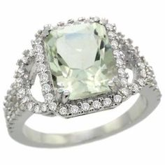 https://ariani-shop.com/14k-white-gold-natural-green-amethyst-ring-octagon-10x8mm-diamond-halo-1-2inch-wide-sizes-5--10 14k White Gold Natural Green Amethyst Ring Octagon 10x8mm Diamond Halo, 1/2inch wide, sizes 5 - 10