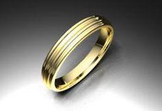 Alianza de oro amarillo de 18K modelo Media caña estriada Ref.: 750AMA35MCESTRIAOro amarillo de 18Kmodelo Media caña estriada superficie brillo #bodas #alianzas #novia | cnavarro.com