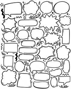 Doodle Fonts, Doodle Art, Vintage Advertising Posters, Vintage Advertisements, Text Cloud, Bubble Drawing, Text Bubble, Comic Poster, Pop Art Illustration