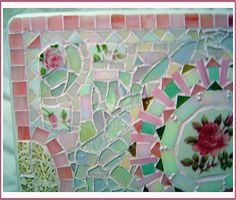 Fancy mosaic table closeup corner, ~by Sondra, Traders of the Lost Art 1