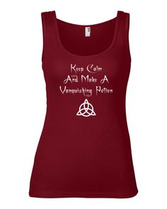 Keep Calm Vanquishing Potion Lady Fit Tank Top  in Assorted colors via Cheeky Witch. Click on the image to see more!