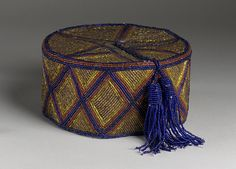 Hat | Africa, Nigeria, Yoruba peoples | Date: 20th century | Material: beads | Los Angeles County Museum of Art, LACMA